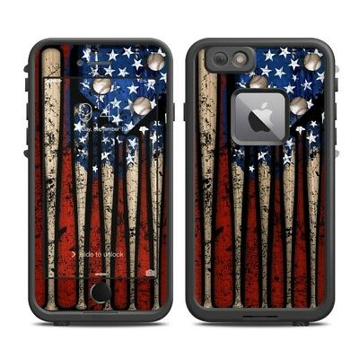 Skin for LifeProof FRE iPhone 6 Plus - Old Glory - Baseball - Sticker Decal