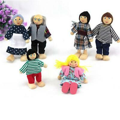 Dolls Wooden Furniture Set Doll House Family People Kids Education Toys W