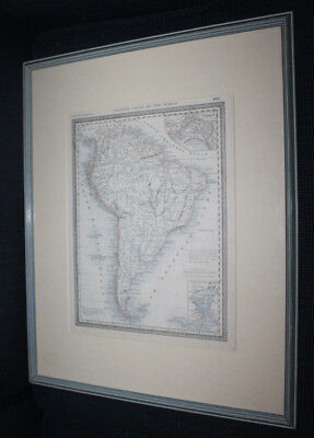 Old Map of South America  Atlas of The World 1882  Framed Matted