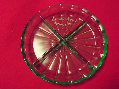 Vintage Green Depression Glass 4 Part Divided Candy  Dish - Clinton, MN