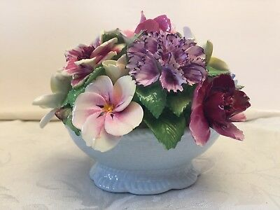 Coalport China Floral Bouquet of Roses and Flowers