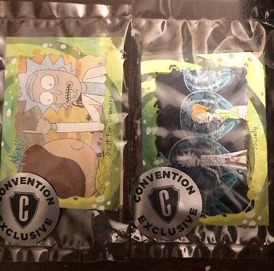 SDCC 2018 Cryptozoic Exclusive Set Of 2 Pack Rick & Morty Trading Card