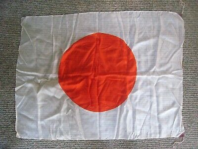 Vintage ORIGINAL WWII Japanese IMPERIAL Flag  35 '' X 26 '' IN.