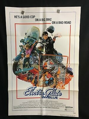 Electra Glide In Blue 1973 One Sheet Movie Poster Motorcycle Cop Biker Police
