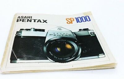 Pentax SP1000 camera ORIGINAL instruction manual