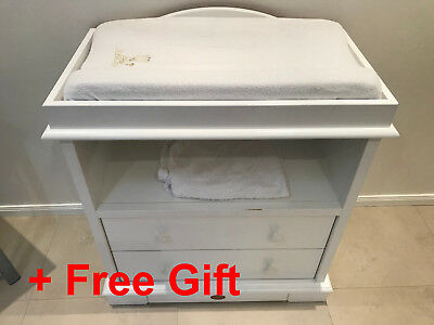 Boori Country Baby Change Table - Brighton Le Sands + Free gift safety bed rail