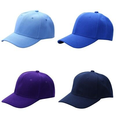 New Plain Solid Adjustable Washed Cotton Polo-Style Baseball Ball Cap Caps Hat