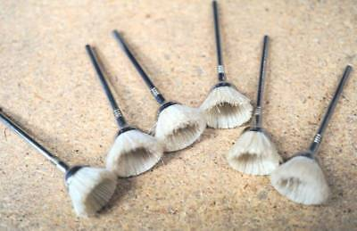 Set Of 6 Mini Soft Brushes For Dremel Proxxon Etc Made In Usa 2.35 Mm Shank