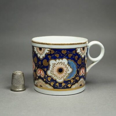 19th Century Coffee Can Cup English New Hall Porcelain Floral Pattern Georgian