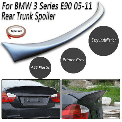 Abs Rear Trunk Boot Lip Lid Spoiler Wing M Sports For Bmw 3 Series E90 2005-2011