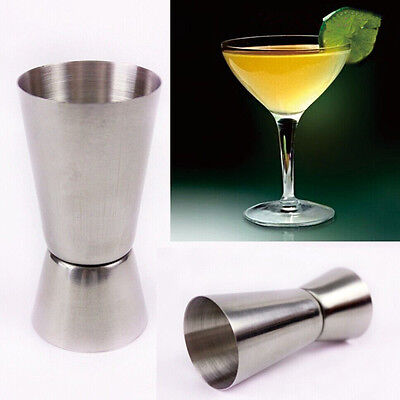 25/50ml Measure Cup Jigger Single Double Shot Short Drink Spirit Cocktail Party