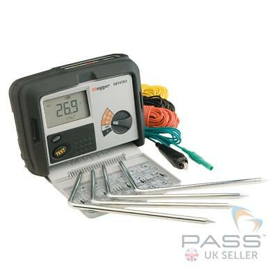 Megger 1000-347 DET4TD2 Earth Tester with Stake and Wire Kit + Calibration