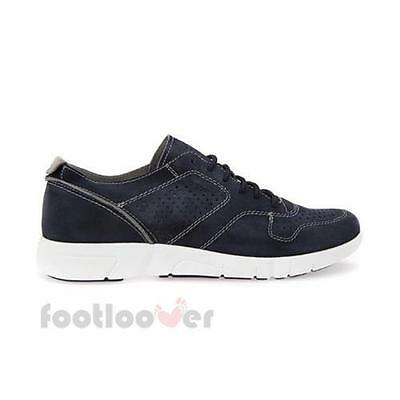 Scarpe Geox Brattley u721pa 00022 c4002 sneakers casual uomo Suede Navy 0091a88d331