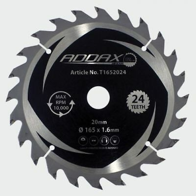 165mm x 20mm bore 24 TEETH 1.6mm KERF Cordless Circular Saw Blade Dewalt Makita