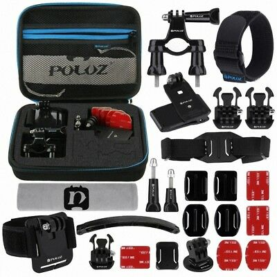 PULUZ 24 in 1 Bike Mount Accessories Combo Kits with EVA Case