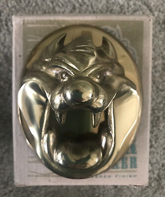 Vintage Looney Tunes Tasmanian Devil Taz Solid Brass Door Knocker Free Shipping