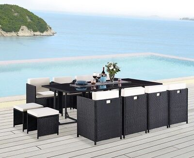 13 Piece Rattan Garden Furniture Set Choice of Colour with Cover Option