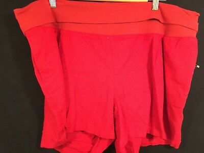 Old Navy Maternity Red Linen Blend Shorts, New, XL
