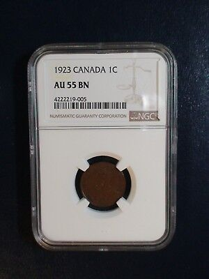 1923 Canada Small Cent NGC AU55 BN KEY DATE 1C Coin PRICED TO SELL RIGHT NOW!
