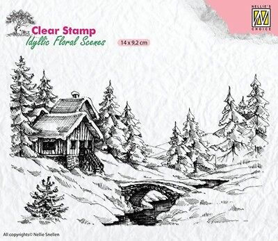 Nellie Snellen / Clear / Winter 1  / Scene /  UNMOUNTED / stamp / IFS009