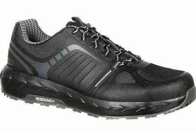 Rocky LX RKK0246 Mens Black/Grey Alloy Toe Athletic Work Shoes