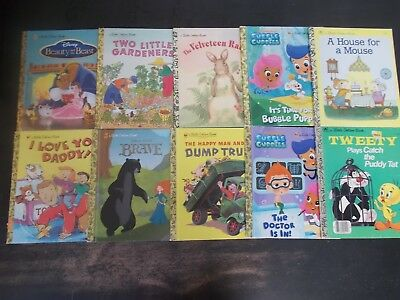 Mixed Collection of 55 Little Golden Childrens Kids Books