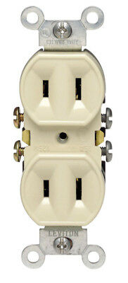 (CASE OF 20) 2-Prong Plug Duplex Outlet Ivory  Leviton 00223-00I Receptacle