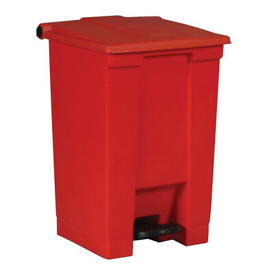 Rubbermaid 12-Gal. Step-On Waste Container (Red) 6144RED NEW