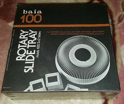 Baia 100 Rotary Slide Tray Holds 2X2 Slides New In Box