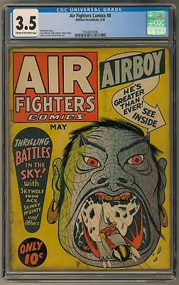 Air Fighters Comics #8 CGC 3.5 (C-OW) WWII Nazi Axis Cover