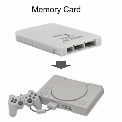 PS1 Memory Card 1 Mega Memory Card For Playstation 1 One PS1 PSX Game Use ll