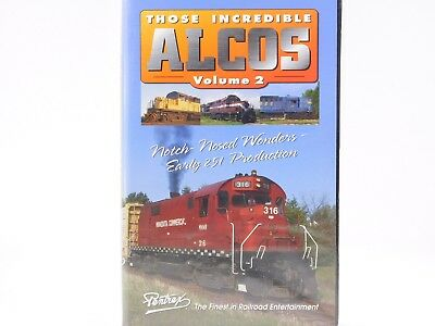 Pentrex VHS Railroad Video Those Incredible Alcos Volume 2 Notch Nosed Wonders