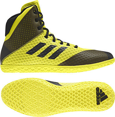 newest collection 19d86 a4170 Adidas 2018 Mat Wizard 4 Yellow Black Wrestling Shoes Mens Adult Adidas  Shoes