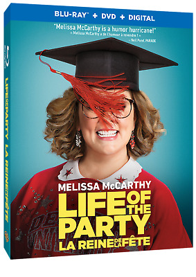 Life Of The Party (2018) [Blu-ray/DVD + Digital] New !!