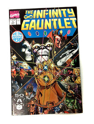 Marvel Comics Infinity Gauntlet  issue no.1, rare in 9.0+ condition, avengers