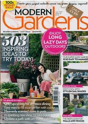 MODERN GARDENS MAGAZINE JULY 2018 NEW In Sealed Bag RRP £3.99