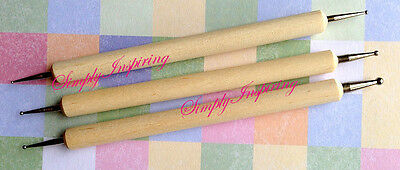 NEW ✿ 3 Embossing Tools ✿ Perfect For Dies ✿ Stencils ✿ Flowers ✿ Pergamano ✿
