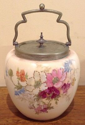 Antique Ceramic Bisquit Barrel