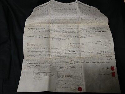 Foust Original 1809 Leacock Lancaster County PA Land Deed Indenture Faust Eby