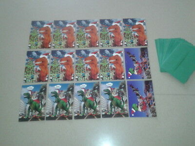 15 Paper Moon Christmas Cards 1980's Funny Dinosaur Themed W/envelopes