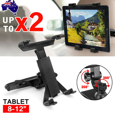 Universal Car Mount Seat Headrest Holder For iPad Samsung Android Tablet 8-12""