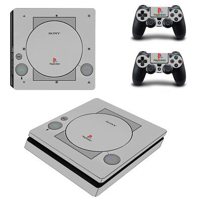 PS1 Retro Classic Style Skin Sticker Decal Skin Sony Playstation 4 PS4 Slim
