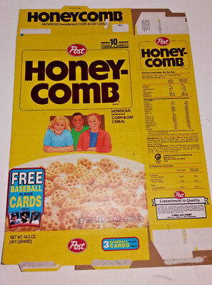 Vintage Post Honeycomb Flat Empty Box ft Free 1992 Baseball Player Cards Offer