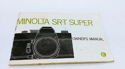 Minolta SR-T SUPER camera ORIGINAL instruction manual