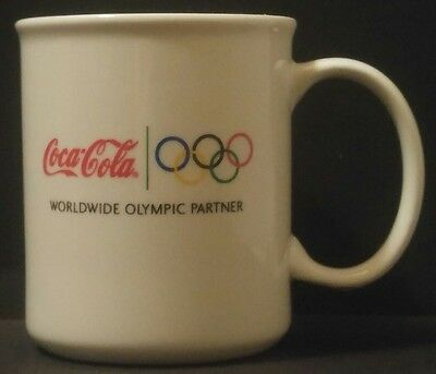 COCA-COLA COFFEE Mug WORLDWIDE OLYMPIC PARTNER Coke OLYMPIC RINGS Soda POP
