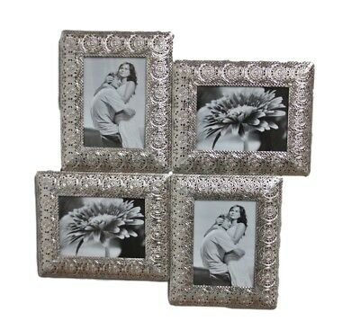 Picture Frame Metal Silver Oriental Antique Frame Photo Frame Wall Frame New