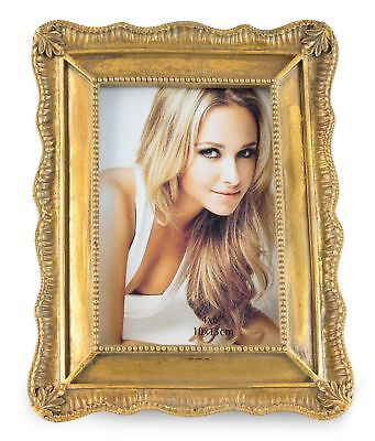 Picture Frame 9x14cm Gold Baroque Antique Glass Panel Foot Photo Frame Retro
