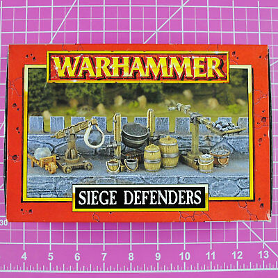 Warhammer Fantasy Siege Defenders, Metal Rare OOP Games Workshop Classic Citadel