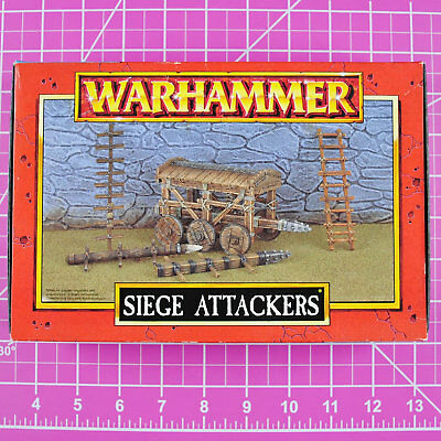 Warhammer Fantasy Siege Attackers, Metal Rare OOP Games Workshop Classic Citadel