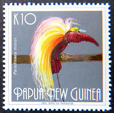 1991 Papua New Guinea Stamps - Bird of Paradise I - Single K10 MNH